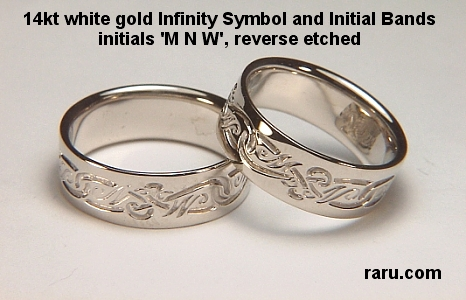 Initial wedding rings unique monogram wedding rings commitment promise