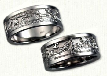 Custom Story Created Wedding Rings Celtic engagement Rings