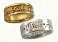 Love in 6 languages wedding band