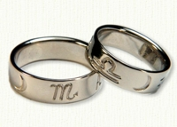 Astrological & Zodiac Wedding Bands