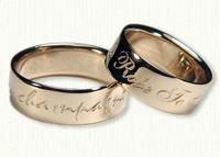 Custom French Wedding Bands-Reverse Etch