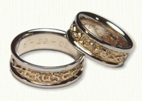 Infinity Wedding Rings in gold and platinum