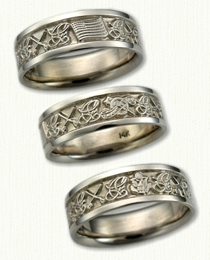Military Inspired Wedding Rings affordable unique gold silver