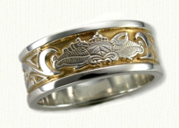 Military Themed Wedding Rings in gold and platinum