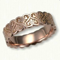 Tramore Celtic Knot Wedding Rings