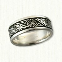#32: Sterling Celtic Palmette with Love Knot Wedding Band