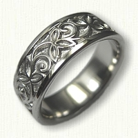 #52: Palladium TriLeaf Wedding Band