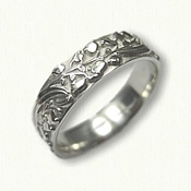 #74: Sterling Silver Custom Lily of the Valley Floral Wedding Band