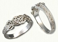 #02: 14kt white pierced & tapered floral vine band