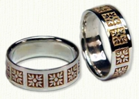Floral Themed Wedding Rings in gold and platinum
