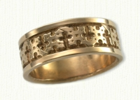 Florentine Cross Wedding Rings