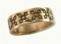 Florentine Cross Wedding Rings