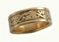 Florentine Leaf Wedding Rings