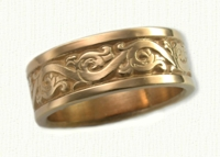 Florentine Scroll Wedding Bands