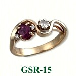 Garnet & Diamond Gemstone Rings