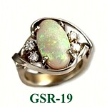 Opal Gemstone Rings
