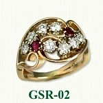 Diamond & Ruby Gemstone Rings