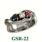Multi Gemstone Rings