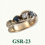 Blue Diamond Gemstone Rings