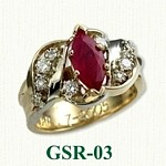 Ruby & Diamond Gemstone Rings