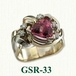 Pink Tourmaline Gemstone Rings
