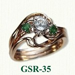 Emerald & Diamond Gemstone Rings