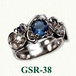 Sapphire and Diamond Gemstone Rings