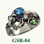 Multi Stone Gemstone Rings