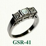 Princess Cut Gemstone Rings
