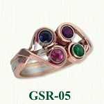 Red Gold Gemstone Rings