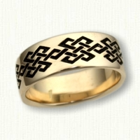 Custom Geometric Argyle Patterned Wedding Band