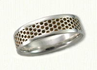 Honeycomb Wedding Bands