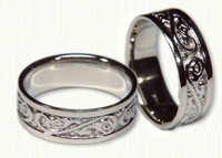 Acanthus Scroll Wedding Band