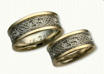 Celtic Heart Knot Wedding Rings by deSignet best prices quality