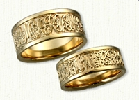 Custom Wedding Band Script Regular Etch:  MARVINLORIMORETHANWORDS