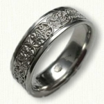 14kt White Gold Custom Initials & Mohan Knot Wedding Band