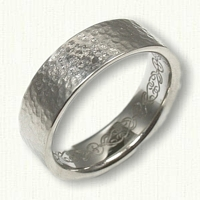 Custom wedding band AK - Reverse etch on inside of band