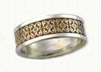 Intricate Florentine Wedding Rings