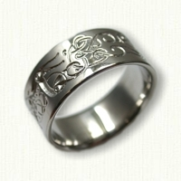 Custom Palladium Norwegian Love Wedding Band