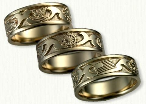military wedding bands custom military wedding bands - Military Wedding Rings