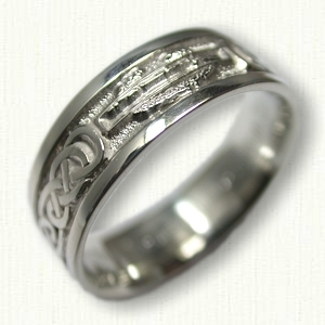 sterling silver combat infantry wedding band - Military Wedding Rings