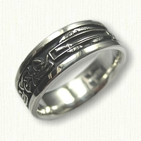 Sterling Silver Combat Infantry with Triangle Knot Wedding Band