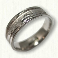 14kt White Gold Custom Mountain Range Wedding Band