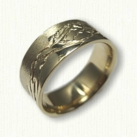 Custom 14kt Yellow Gold Mountain Range Wedding Band