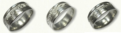 Custom Mountains and Mesa Wedding Band - Sterling Silver