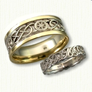 Custom Nautical Wedding Band With Celtic Knots And Initials