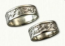 Custom Sterling Silver Lobster Wedding Band