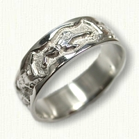 Sterling Silver Scuba Diver Wedding Band