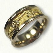 14kt Yellow Gold Custom Anchor & Rope Wedding Band