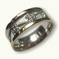 #63-14kt Two Tone Gold Custom Anchor & Rope Wedding Band